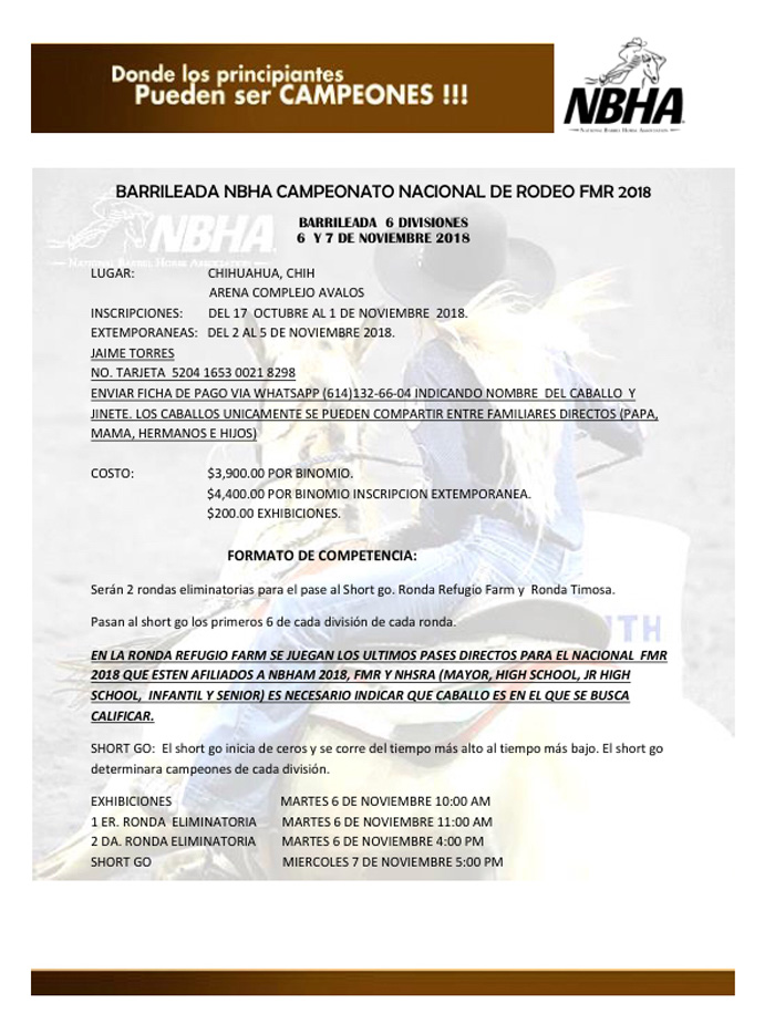 convocatoria super carrera 1 2018